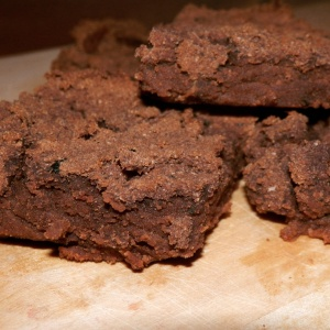 Sweet potato & courgette Flutter Scotch brownies