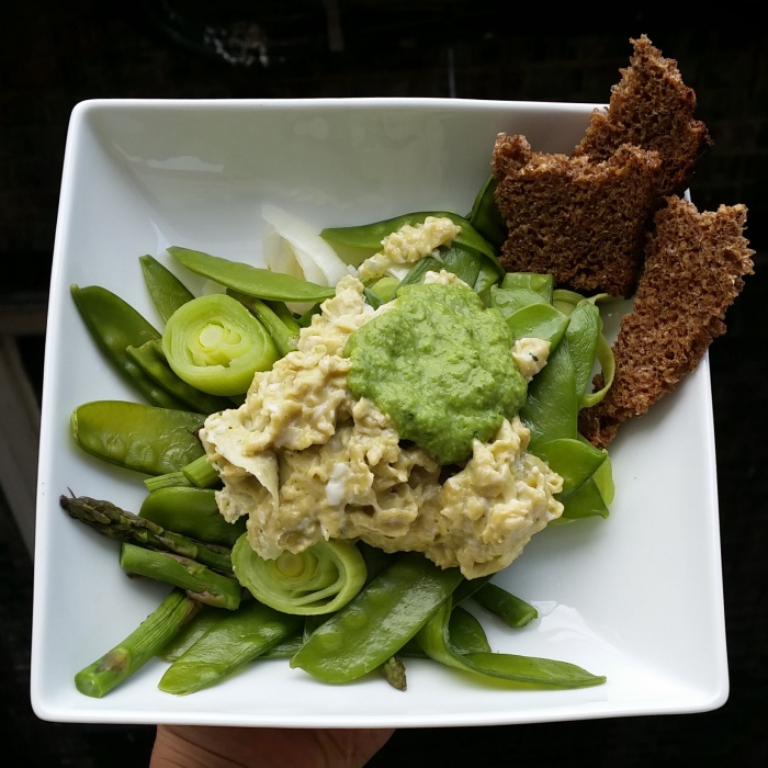 Nut-free vegan plant-based pesto