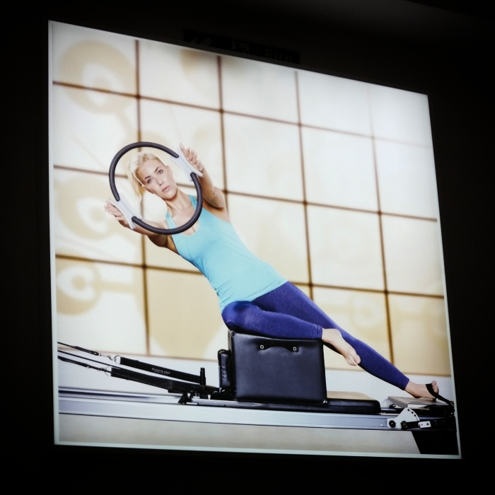 The reformer pilates studio is on the first floor