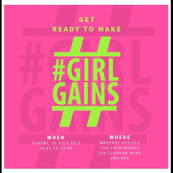 GirlGains event poster